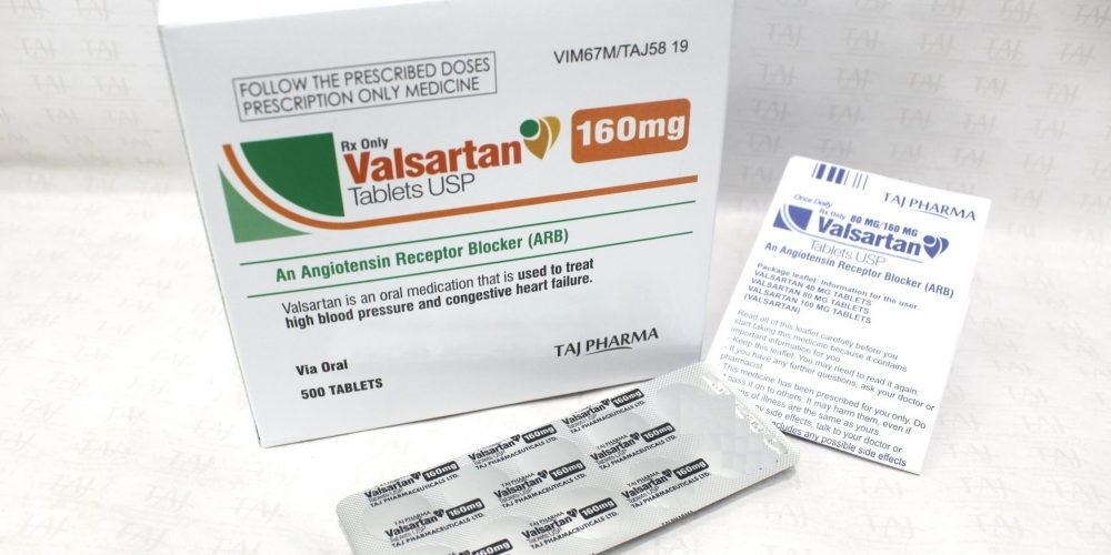 Valsartan Tablets USP 160mg Taj Pharma